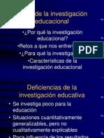 Retos de Investigación Educacional, Abril 03