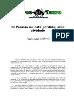 Cabral, Facundo - El Paraiso No Esta Perdido, Sino Olvidado.doc