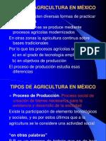 Tipos de Agricultura en México Unidad 3