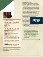 Glasstaff Character Sheet