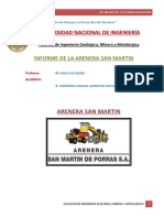 Informe de La Arenera San Martin