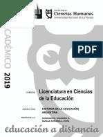 Historia de la Educación Argentina 2019