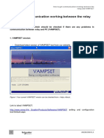 Vampset communication