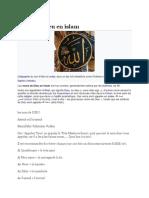 Noms de Dieu en Islam