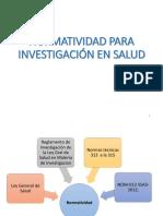 Normatividad en Investigacion