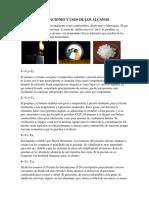 Aplicaciones y Usos de Los Alcanos, Alquenos y Alquinos.