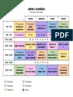 AGENDA ACADÉMICA - 12 de Agosto Al 16 de Agosto