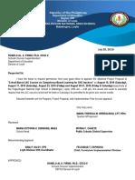 CBL LAC Session Letter of Request