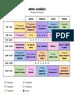 AGENDA ACADÉMICA - 26 de Agosto Al 30 de Agosto