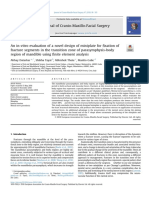 An in-Vitro Evaluation of a Novel Design of Miniplate for Fixation of Fracture Segments in the Transition Zone of Parasymphysis-body Region of Mandible Using Finite Element Analysis