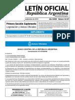 """Comunicación """"A"""" 6770/2019 BCRA Mercado Cambiario"""