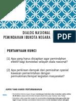 Wicak at Dialog Nasional Pemindahan Ibukota 16 Mei 2019