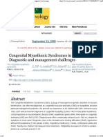 Congenital Myasthenic Syndromes in Childhood