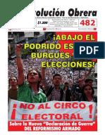 Revolución Obrera No. 482 de septiembre de 2019