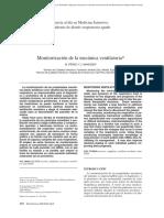 Monitorización de la mecánica ventilatoria