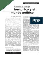 Umberto Eco y el mundo político
