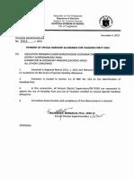 DM No. 562 s. 2015 Hardship Allowance