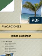 Vacaciones, sancion