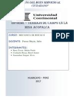 Estudio Tecnico de La Mina Acopalca
