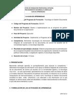 GFPI-F-019 Guia de Aprendizaje No 1 Administrar Tecnologías II