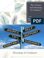 The Nature and Meaning of Guidance and Counselling