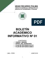 Boletín de egresado Ricardo Palma