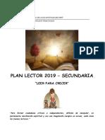 Plan Lector Secundaria 2019