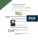 Sensores de Temperatura Electronicos