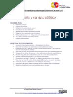 1. Profesión y Servicio Publico