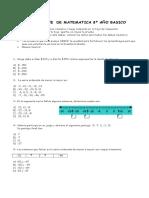 8º Básico matemática