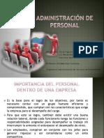 Administración de Personal POWER POINT