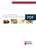 Healthy Weight Healthy Me Meal Plan