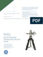 GE Druck PV211 Brochure