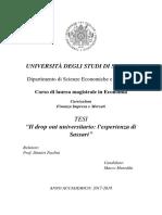 Elaborazione statistica su dati Università di Sassari