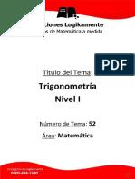 TRIGONOMETRIA NIVEL 1