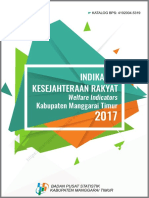 Indikator Kesejahteraan Rakyat Kabupaten Manggarai Timur 2017