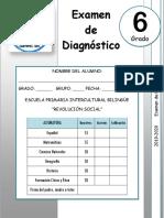 6to Grado - Examen de Diagnóstico (2019-2020)