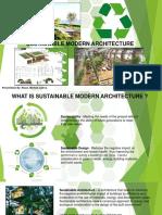 Sustainable Modern Architecture