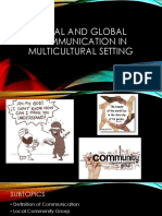 Local and Global Communication in Multicultural Setting