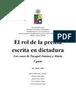 El rol de la prensa escrita en la dictadura chilena