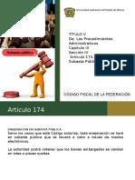 (Resolución) Articulo 174 Enajenación en Subasta Pública