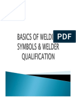 Basics of Welding Sysmbol and Welder Qualification