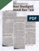 Daily Tribune, Sept. 2, 2019, Shelter budget trimmed for '20.pdf