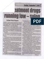 Peoples Journal, Sept. 2, 2019, HIV treatment drugs running low-solon.pdf