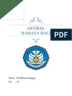 Artikel Bahasa Bali