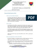 Faqs on Kc Ncddp Npmo Disaster Response Protocols