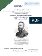 Incontro di studio ed approfondimento dedicato al compositore Alberto Franchetti