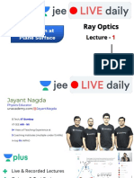 Ray Optics Lecture Unacademy