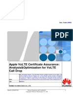 Apple VoLTE Certificate Assurance-Analysis&Optimization for VoLTE Call Drop