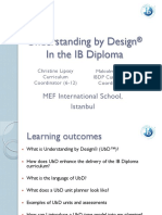 Understanding by Design IB DAY